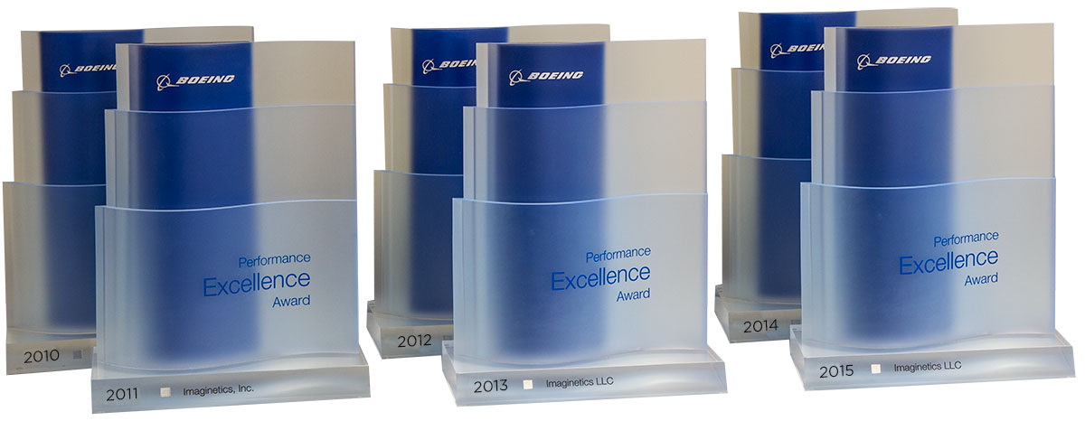 Boeing congratulates Imaginetics for superior supplier performance in 2015