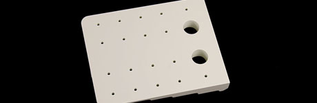 CNC white square with holes